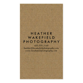 Kraft & Photo Calling Card Pack Of Standard Business Cards