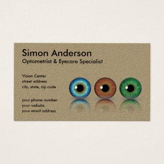 Kraft Professional Optometrist Eyeballs Optometry Business Card