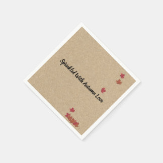 Kraft Sprinkled With Autumn Love Party Napkins Paper Napkin