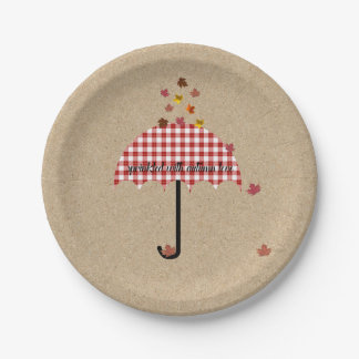 Kraft Sprinkled With Autumn Love Party Plates