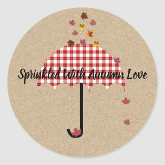 Kraft Sprinkled With Autumn Love Party Stickers