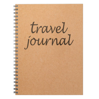 Kraft Travel Journal ~ Calligraphy Travel Notebook