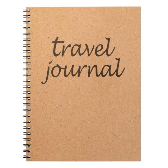 Kraft Travel Journal ~ Calligraphy Travel Notebook