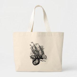 Kraken Attack Large Tote Bag
