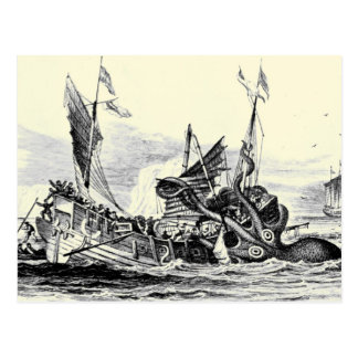 Kraken Attack! Postcard
