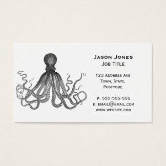 Kraken - Black Giant Octopus / Cthulu Business Card