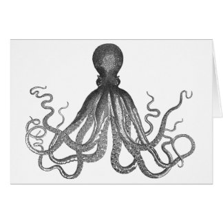 Kraken - Black Giant Octopus / Cthulu Card