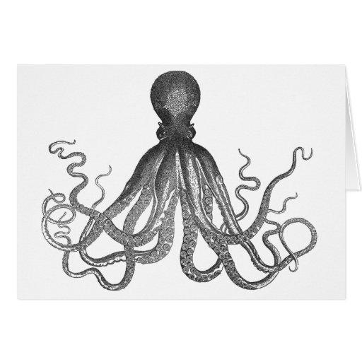 Kraken - Black Giant Octopus / Cthulu Card