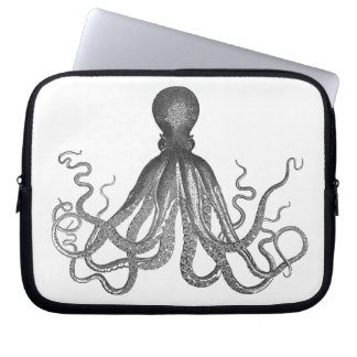 Kraken - Black Giant Octopus / Cthulu Laptop Sleeve
