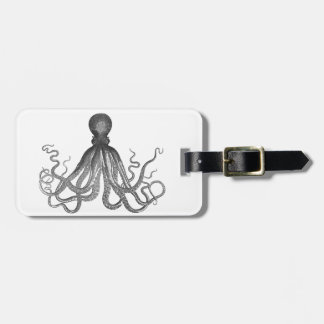 Kraken - Black Giant Octopus / Cthulu Luggage Tag