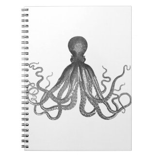 Kraken - Black Giant Octopus / Cthulu Notebook