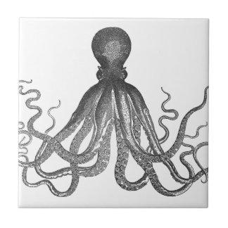 Kraken - Black Giant Octopus / Cthulu Small Square Tile
