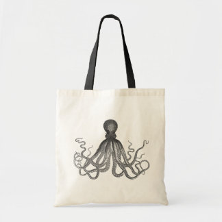 Kraken - Black Giant Octopus / Cthulu Tote Bag