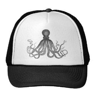 Kraken - Black Giant Octopus Cthulu Trucker Hat