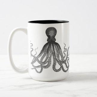 Kraken - Black Giant Octopus / Cthulu Two-Tone Mug