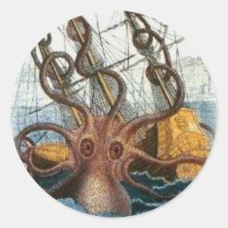 Kraken by Pierre Denys de Montfort, 1801 Classic Round Sticker