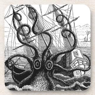 Kraken Eatting a Sailing Ship Coaster