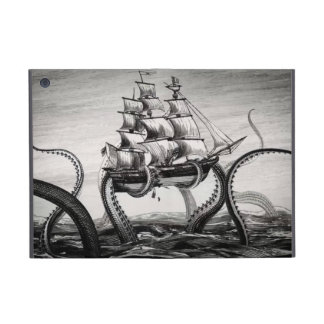 Kraken Holding Pirate/Sailing Ship iPad Mini Folio Cover For iPad Mini