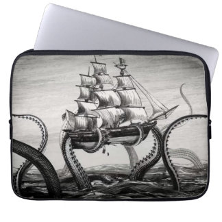 "Kraken Holding Up A Pirate/Sailing Ship 13"" Sleeve Computer Sleeve"