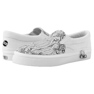 Kraken Octopus Cthulhu Sea Monster Tentacle Slip On Shoes