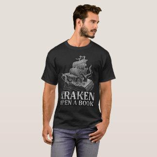 Kraken Open a Book T-Shirt