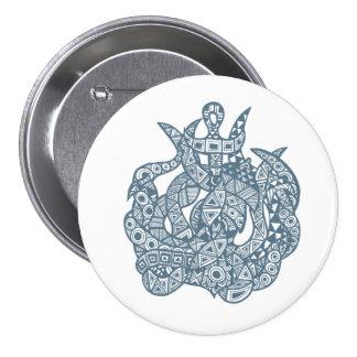 Kraken The Sea Monster 7.5 Cm Round Badge
