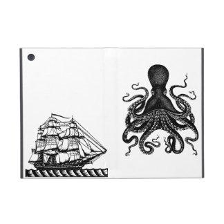Kraken vs Pirate Ship ipad Case Steampunk love