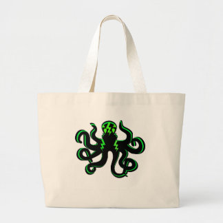 Kraken with Green Lightning Bolts Tote Bag