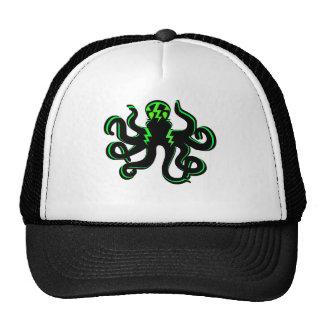 Kraken with Green Lightning Bolts Cap