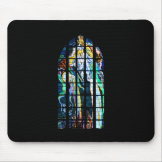 Krakow Church of St. Francis Stained Glass Mouse Mat