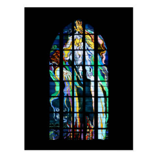 Krakow Church of St. Francis Stained Glass Postcard