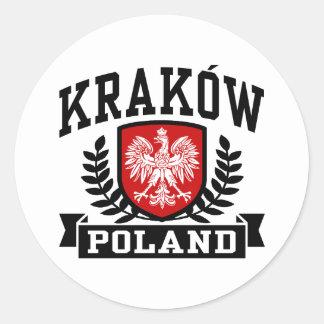 Krakow Poland Classic Round Sticker