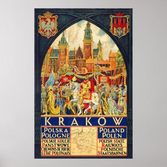 Krakow Polska Pologne Polen Poster