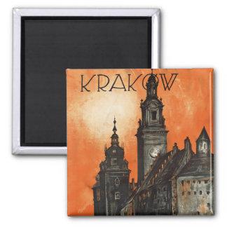 Krakow Square Magnet