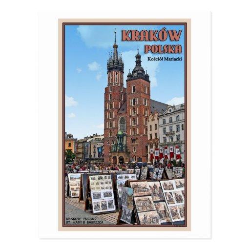 Krakow - St Marys Basilica Post Card