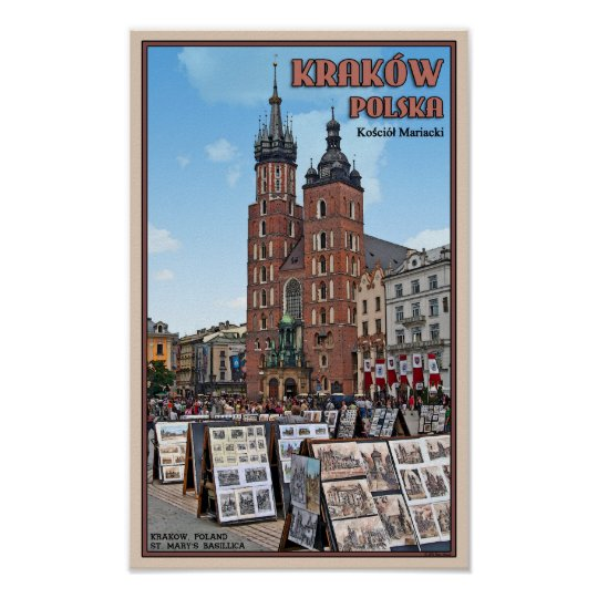 Krakow - St Marys Basilica Poster