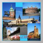 Krakow Towers Poster