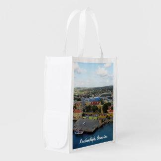 Kralendijk Harborfront Custom Reusable Grocery Bag