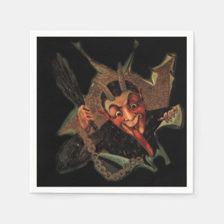 Krampus Breaks Out Holiday Napkins Disposable Serviette