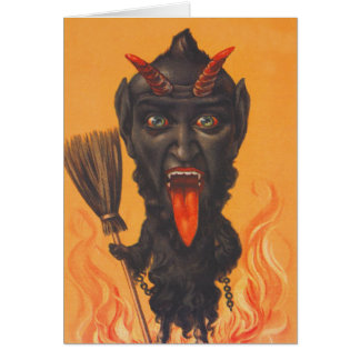 Krampus Broom Hell Chains Card
