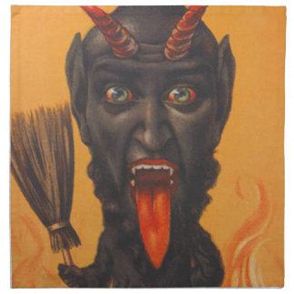 Krampus Broom Hell Fire Chains Napkin