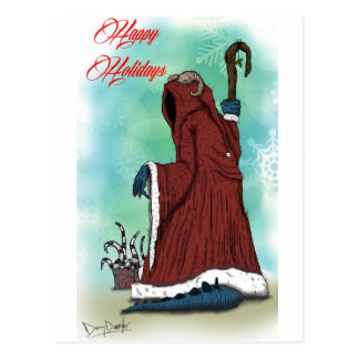 """Krampus"" by Danny Daurko, Postcard"