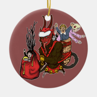 Krampus Caught Naughty Children Ornament