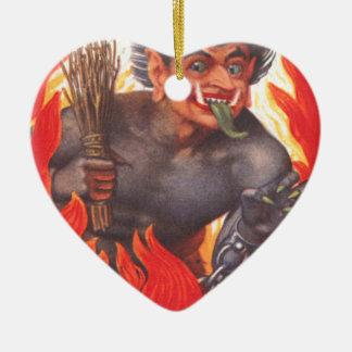 Krampus Ceramic Heart Decoration