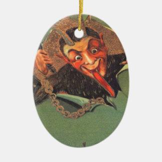 Krampus Ceramic Oval Decoration
