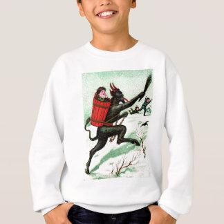 Krampus Chasing Bad Children Winter Snow Sweatshirt