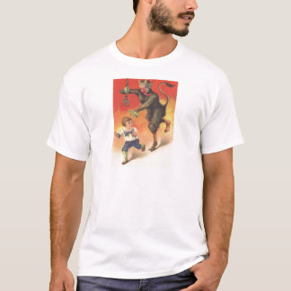 Krampus Chasing Child T-Shirt