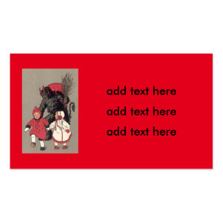 Krampus Chasing Children Switch Pack Of Standard Business Cards