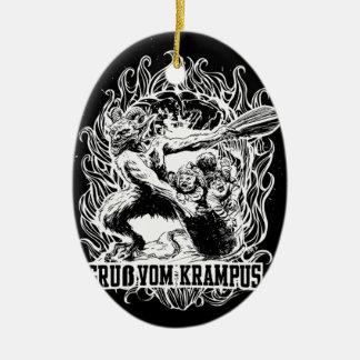Krampus Christmas in Black Ceramic Oval Decoration