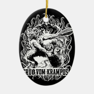 Krampus Christmas in Black Christmas Ornament